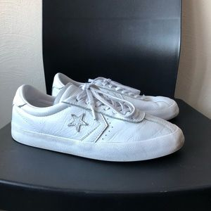 White leather converse sneaker